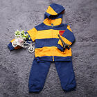 Kids Clothes Boy Girl Autumn Winter Hoodied Long Sleeve Jackets And Pants Set LO