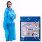 UK Clear Adult Raincoat Transparent Outdoor Rain Coat EVA Vinyl SeeThrough Cloth