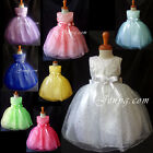 #SP9 Baby Flower Girl Wedding Junior Bridesmaid Birthday Party Summer Sun Dress