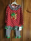 Bonnie Jean 2pc Christmas outfit 5,6