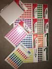 490/(350assorted) Self Adhesive Round 8mm Sticky Dots Labels Stickers Coloured
