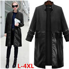 Plus size L-4XL Autumn Women's Stylish Leather Pocket Jacket Coat Cardigan Q1623