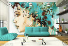 Wallpaper modern Textured Room Decor lady face high-quality Home Living Pattern