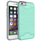 New Hybrid Shockproof Card Holder Slot Kickstand Case Cover for iPhone 7 7 Plus