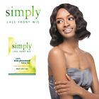 Simply 100% Brazilian Virgin Remy Human Hair Lace Front Wig - NATURAL DEEP BOB