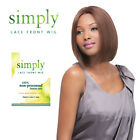Simply 100% Brazilian Virgin Remy Human Hair Lace Front Wig NATURAL STRAIGHT BOB