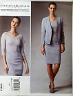 VOGUE PATTERN JACKET FITTED SKIRT RAISED WAIST & TOP PULLOVER SIZE 12-20 # V1389