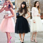 HOT Vintage Punk 40's 50's Cocktail Long Tutu Petticoat Ballet Dance Tulle Skirt