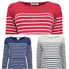 JoJo Maman Bébé Breton Stripe Breastfeeding Nursing Top Stretch Cotton RRP £26