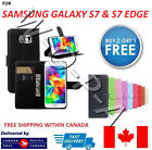 Samsung Galaxy S7 & S7 edge Luxury Pouch Flip Cover Wallet Leather Phone Case