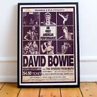 David Bowie 1972 First American Concert Poster Print Four Options NEW Exclusive