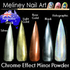 High Quality Chrome Effect Mirror Powder Pigment Silver Gold Holographic Nail
