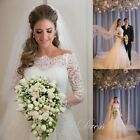 Off The Shoulder Long Sleeve Wedding Dresses Mermaid Plus Size Bridal Gown WD104
