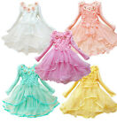 New Autumn Children's Girls Princess Dress Lace Cotton Long Sleeve Tutu Dresses