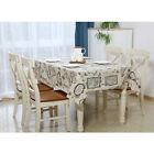 New World Map Vintage Pattern Dinning Coffee Table Cotton Linen Cloth Covering