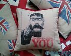 "Vintage WW1 Kitchener Cushion ""Your Country Needs You""! Cover, Fibre or Feather"