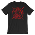 CERBERUS Strength Barbell Club T-Shirt  Red or Black 100% Heavy Cotton Premium T