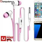 Flat In-Ear Headphones Headset + Microphone for iPhone 6S plus iPad mini Air Pro