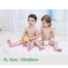 80x70cm Baby Bamboo Fiber Flannel Changing Mat Colorfast Breathable Urine Pad