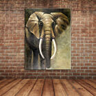 Modern Animal Art African Elephant Oil Painting Canvas Art for Wall Decoration