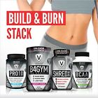 VIZINX Build & Burn Stack - Includes Pre Workout, Fat Burner, Protein & BCAA's