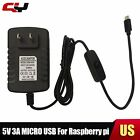 5V 3A Micro USB AC Adapter DC Wall Power Supply Charger for Raspberry Pi &Switch