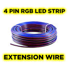 4-Pin Flexible Extension Cable Wire for RGB LED Strip - 1 to 100 Metre