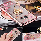 Luxury Diamond Clear Crystal Silicone Stand Soft Case Cover for Samsung & iPhone