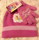 Knit Hat & Glove Sets NWT Child's Disney Princess Pink Tinkerbell Turquoise