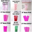 STRAWS, Overstock, Clearance, Clear/Swirly, Swirly, Glitter, Grommets, 50% Off