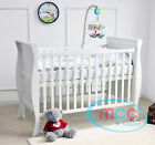 MCC Solid Wooden Baby Cotbed Sleigh Cot bed Toddler Bed Water Repellent Mattress <br/> Water repellent mattress Made In UK✔ Height Adjustable✔