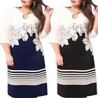 New Womens Sexy Summer Bodycon Party Cocktail Casual Mini Dress Plus Size M-6XL