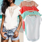 New Stylish Lady Casual Short Sleeve Loose Summer T-shirt Tops Shirt Blouse PLUS