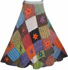 400 WS Agan Traders Hippie Gypsy Summer Long Wrap Patch Cotton Bohemian Skirt