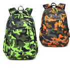 Student School Bag Children Backpack Camouflage Water Resistant Free Drawstring