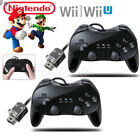 2 x Built in Motion Plus Remote Nunchuck Controller Set For Retro Wii & Wii U US