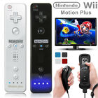 2 x Built in Motion Plus Remote Nunchuck Controller Set For Nintendo Wii & Wii U