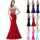 Long Evening Formal Party Dress Prom Ball Gown Bridesmaid Dresses Applique