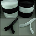 Sew on Hook and Loop Tape Strip Fasteners 25 mm - 50 mm White and Black