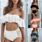 Women Bikini Push UP Swimsuit Swimwear Padded Bandeau Bra Set Bathing Beachwear