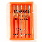 Внешний вид - Janome 15X1LL Leather Point Needles For Home Sewing Machines - 5/Pk.