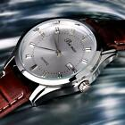 Fashion Casual Stainless Steel  Electronic Men's Wrist Watch Leather Quartz