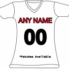 Women's Customized New England Patriots Football Jersey Personalized Embroidered