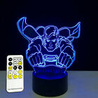 7 Colors 3D illusion Superman LED Touch Night Light Desk Table Lamp Gifts B65
