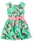 Carter's   Girls' Sateen Floral Dress    MSRP$44.00   Size 4--8