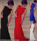 New Summer Women Mermaid Solid Evening Prom Dress Jersey Cocktail Casual Dresses