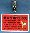 I'M A SERVICE DOG -  vest clip instead of patch optional ADA on back