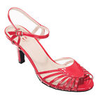 Dancing Days Rockabilly Vintage Swing Riemchen Pumps Sandalen - Amelia Rot