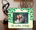 "4""x6"" PHOTO FRAME - IRISH CLOVER 3 - ADD NAME OR TEXT FREE - Family Gift Picture"