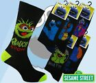 6 Mens SESAME STREET Cartoon Novelty 100% OFFICIAL Character Socks UK 6-11